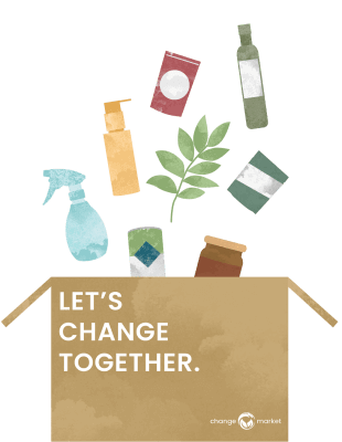 Every purchase at Change Market donates a meal, plants a tree, and helps sponsor animals from no-kill shelters
