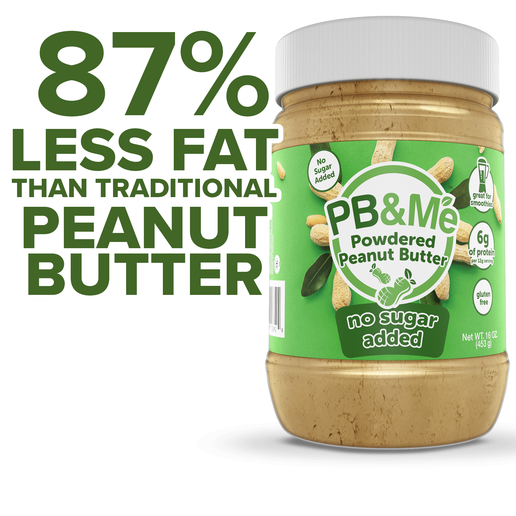 PB2 Powdered Peanut Butter: 6 x 1 lb Canisters for Only $40