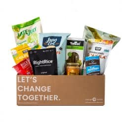 Buy Healthy Vegan subscription Boxes at Change Market. Each month we curate a box of vegan full-sized products from the best brands.