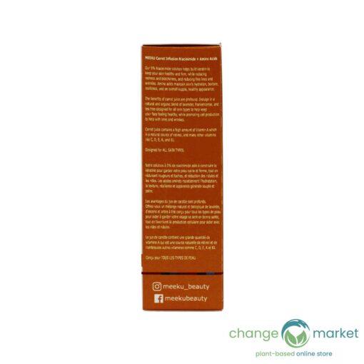 Meeku Carrot Infusion Niacinimide Facial Serum2 510x510, Change Market